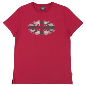 Mens Land Rover Oval Logo T Shirt Red UJ