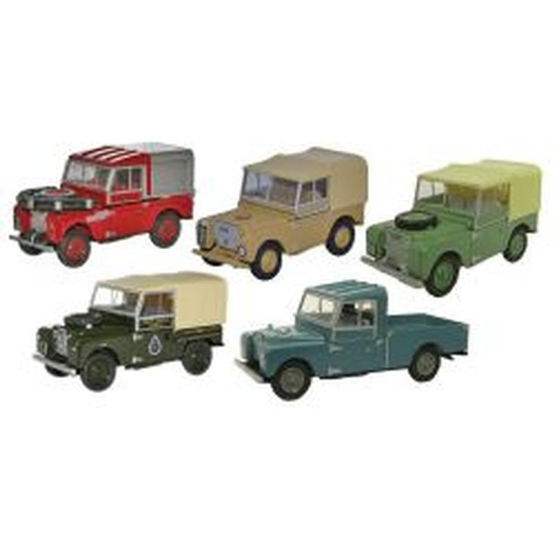 LAND ROVER SERIES I - 5 PIECE SET 1:76 SCALE MOD
