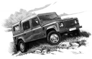 Defender 110 double cab - with canvas back  '91-