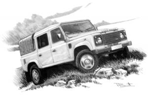 Defender 110 double cab  '07- (light shading)