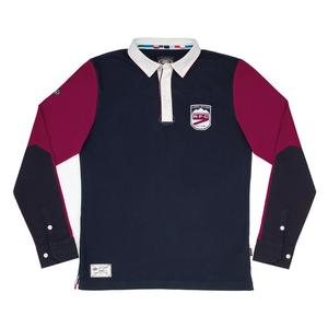 Mens Rugby Shirt - Navy & Cherry