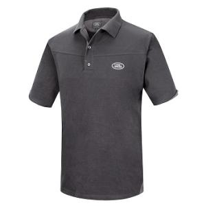 Men's Land Rover Polo Shirt Charcoal