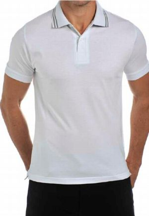 Men's white classic Polo - LRSS12PS4
