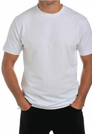 White men's T shirt - LRSS12T3