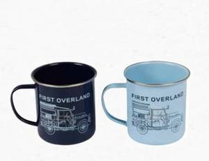Heritage enamel mug set of 2