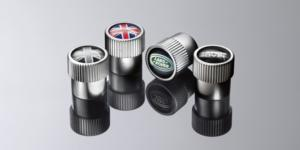 Black & Grey Union flag tyre caps - LR027666