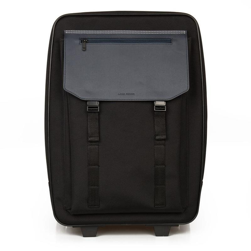 Nylon & Leather Carry On Trolley Black