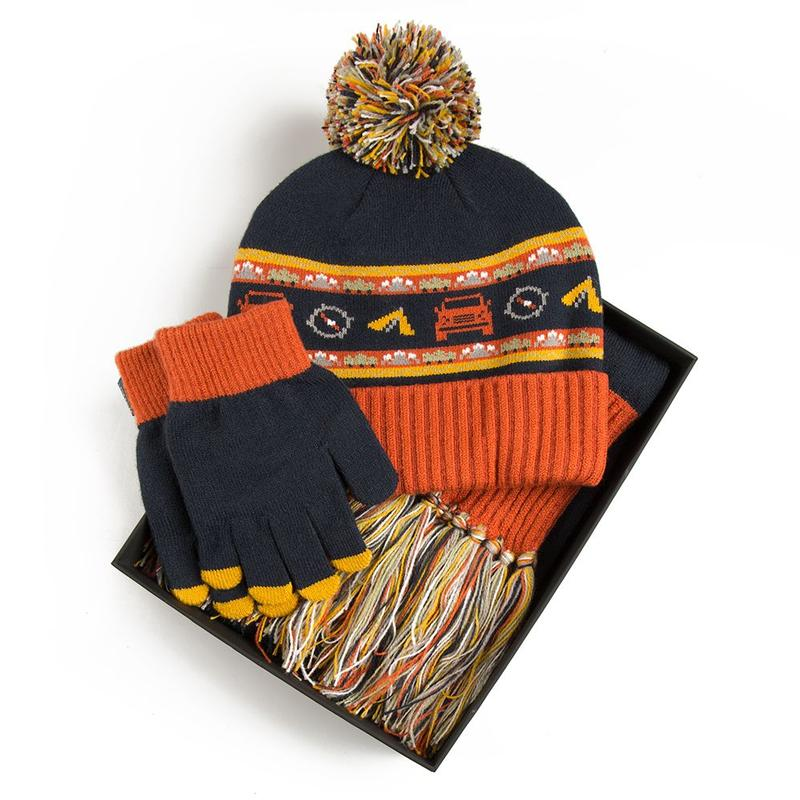 CHILDREN'S HAT/SCARF/GLOVE SET - NAVY