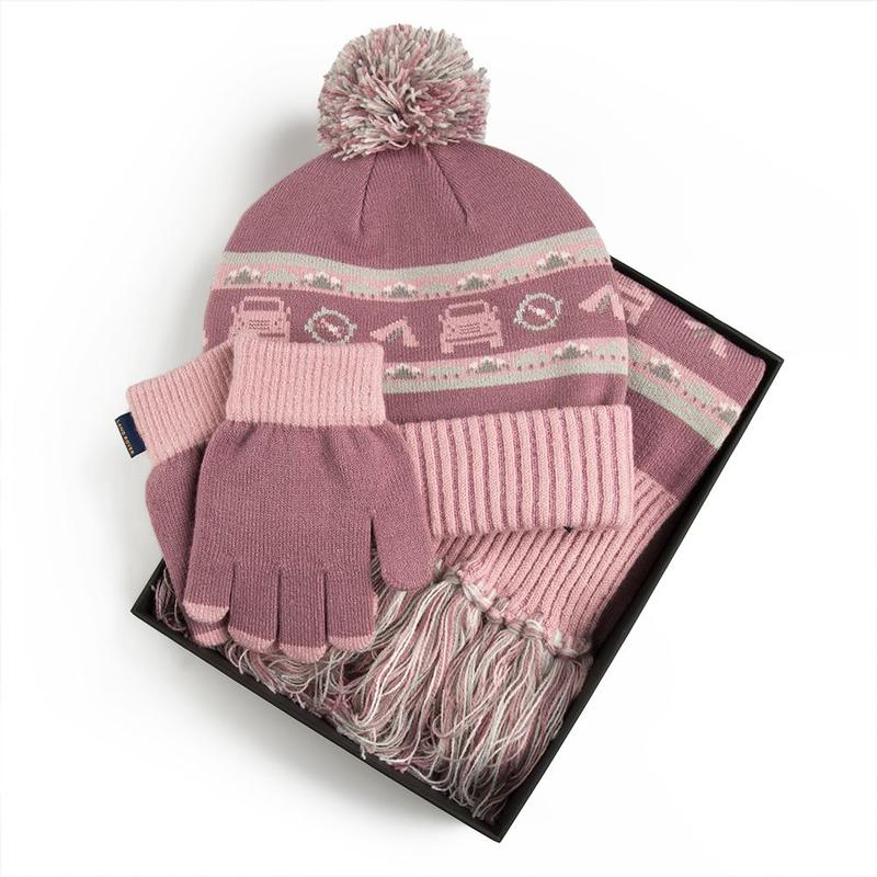 CHILDREN'S HAT/SCARF/GLOVE SET - PURPLE