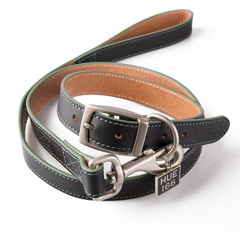 HUE Leather Dog Collar & Lead Set