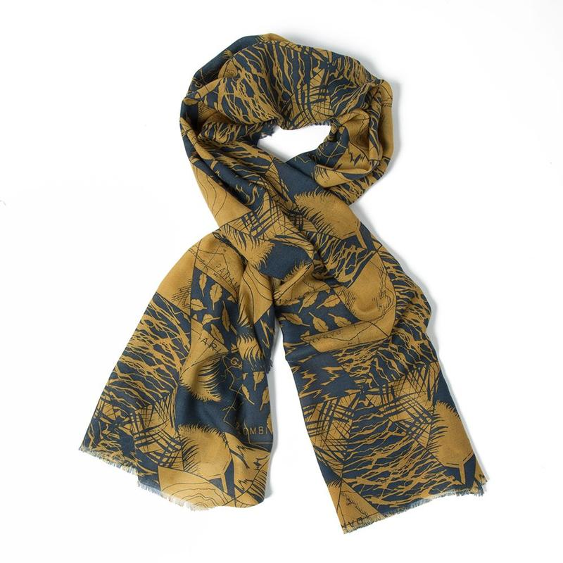 UNISEX HERITAGE SCARF BROWN/NAVY