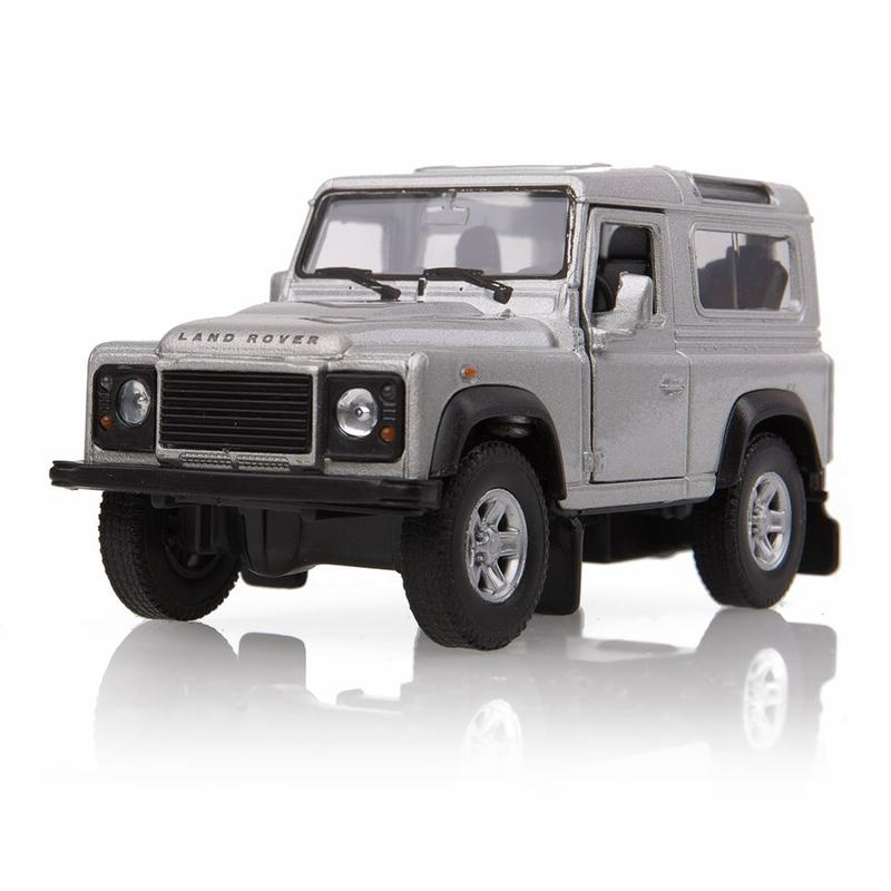 DEFENDER PULL BACK 1:38 SCALE MODEL SILVER